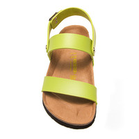 2017 Birkenstock Summer Fashion Leather Cork Flats Beach Lovers Slippers Casual Sandals For Women Men Couples Slippers color green size 36-45