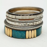 Free People Tropical Hard Bangle Set