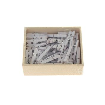 Mini Wooden Clothespins, 1-Inch, 50-Count, White