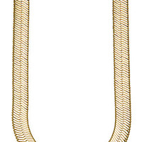 The 11mm 30 Inch Herringbone Chain in Gold