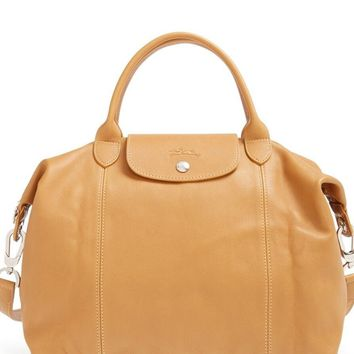 NEW $565 LONGCHAMP LE PLIAGE CUIR LEATHER HANDBAG