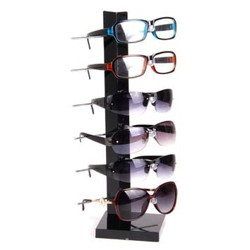 EAS Display stand of 6 pairs Glasses Sunglasses Display Stand Holder Black
