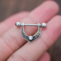 nipple ring nipple piercing nipple shield nipple jewelry vintage elf 14g