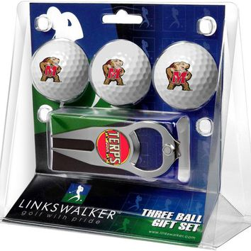 Maryland Terrapins 3 Ball Gift Pack with Hat Trick Divot Tool