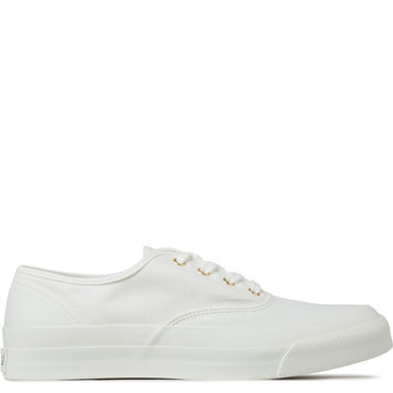 Maison Kitsune White Canvas Sneakers