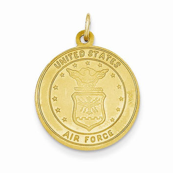14k Yellow Gold US Air Force Christopher Medal