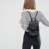 ASOS Mini Leather Drawstring Backpack