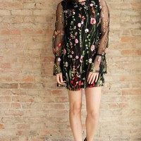 Maeberry Embroidered Dress