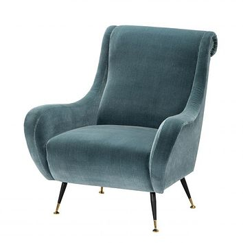 Blue Lounge Chair | Eichholtz Giardino