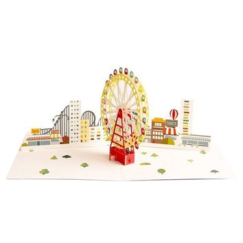 Colorful Ferris Wheel Pop up Cards Birthday Funny Kids Thank you Cards 3D Greeting Cards Anniversary Gift Card for Son Wedding