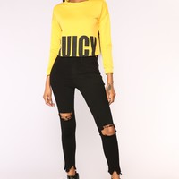 Juicy Vibes Top - Yellow