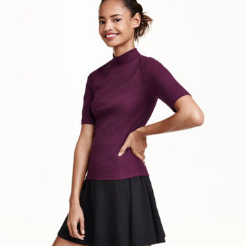Mock Turtleneck Top - from H&M