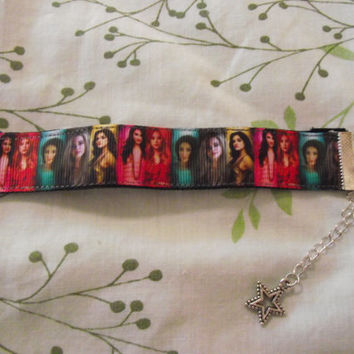 Pretty Little Liars 22mm Grosgrain Ribbon Bracelet -Hannah, Aria, Alison, Spencer, Emily