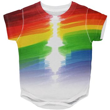 Color Me Gay Lesbian Pride All Over Baby One Piece