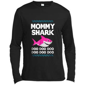 Mommy Shark Doo Doo  Funny Kids Video Baby Daddy Long Sleeve Moisture Absorbing Shirt