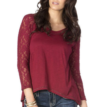 Miss Me Pep Express Top - Red