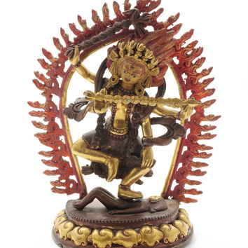 Antique Statue of Kurukulla aka Red Tara