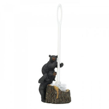 Bear Family Toilet Brush Holder