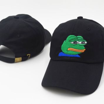 Sad Meme Embroidered Baseball cotton cap Hat