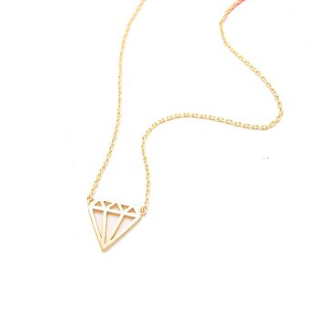 Bikini Luxe Bejeweled Dainty Necklace in Gold or Sterling Silver
