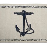 Nautical Anchor Bath Mat