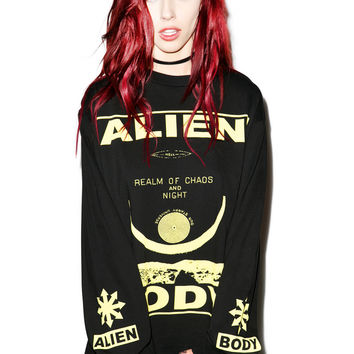 Mishka Alien Body Chaos Realm Shirt Black