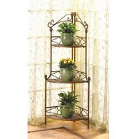 Lovely Rustic Corner Bakers Rack