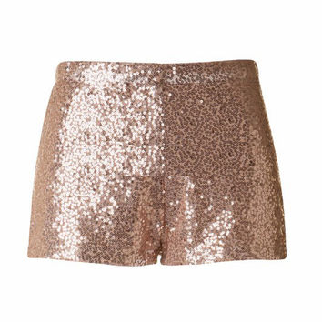 Sequin Shorts - Blush