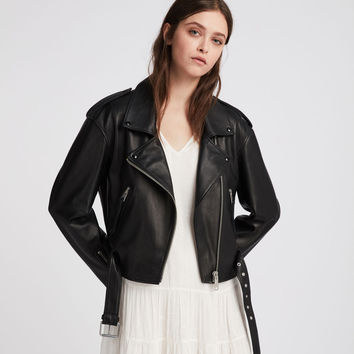 ALLSAINTS UK: Womens Anderson Biker (black)