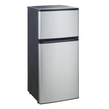 Vissani 4.5 cu. ft. Mini Refrigerator in Stainless Look, ENERGY STAR-HVDR450SE at The Home Depot
