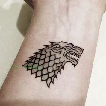 Waterproof Temporary Tattoo Wolf of House Stark