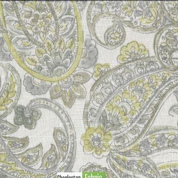 Microfibres Neutral Paisley Fabric