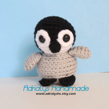 Crocheted Tiny Baby Penguin- Stuffed Penguin- Penguin Plush- Antarctica Animals- Handmade Penguin- Crochet Toy- Toy Plush- Made to Order