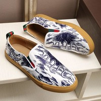 Gucci Man or Woman Fashion Multicolor Print Pattern Casual Shoes