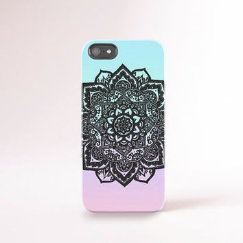 Summer iPhone 6 Case Mandala iPhone 5 Case Summer iPhone 4 Case Pastel iPhone Case Black Lace iPhone Cover Eco Friendly Accessories