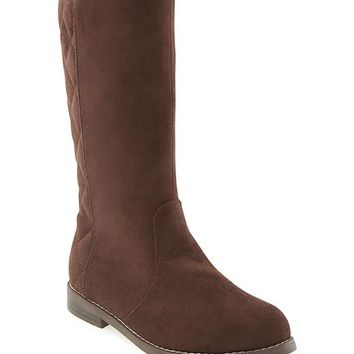 Old Navy Quilted Sueded Tall Boots