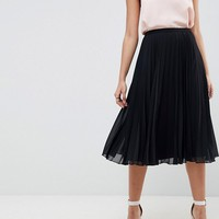 ASOS DESIGN pleated midi skirt at asos.com