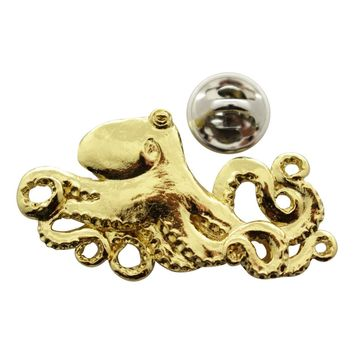 Octopus Pin ~ 24K Gold ~ Lapel Pin