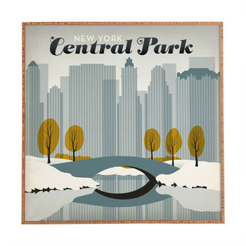 Anderson Design Group Central Park Snow Framed Wall Art