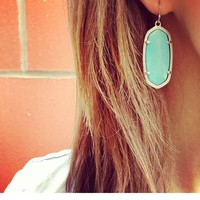Elle Earrings in Mint - Kendra Scott Jewelry