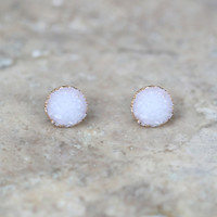 Altar'd State Apothecary with White Quartz Studs - Earrings - Jewelry