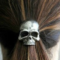 Punk Skull Hair Band Women's Hair A.. on Luulla