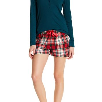 Joe Fresh | Drawstring Flannel Short | Nordstrom Rack