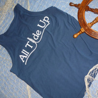 All Tide Up Navy Tank Top