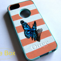 3D OTTERBOX iphone 5/5s case, case cover iphone 5s otterbox ,iphone 5 otterbox case,otterbox iPhone 5,gift,Butterfly otterbox case