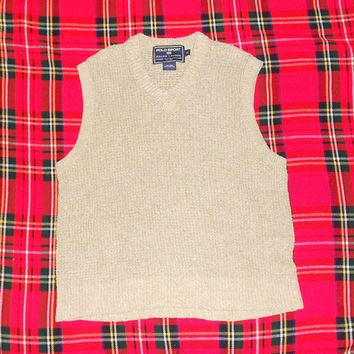 Ralph Lauren Polo Sport Sweater Vest XL Linen/Cotton