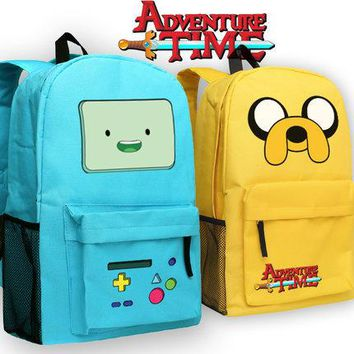 Backpack Adventure Time Girls Boys School Bags BMO Finn and Jake Book Bag for Teenage Schoolbags