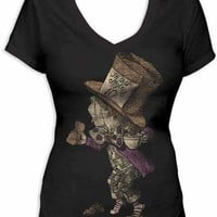 Alice In Wonderland Hatter V-Neck T-Shirt