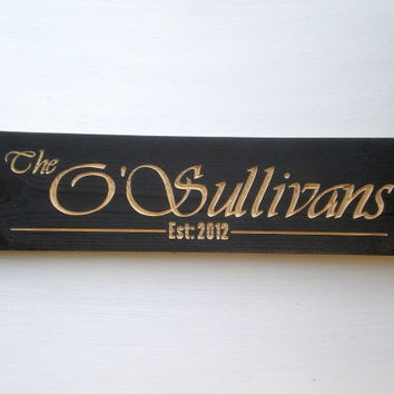 Personalized Name Wood Sign