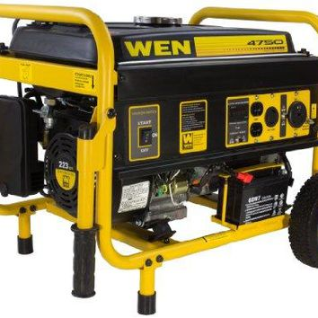 WEN 56475 3750 Running Watts Gas Powered Portable Generator CARB Compliant